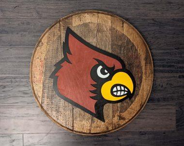 louisville-cardinals-logo-bourbon-barrel-head